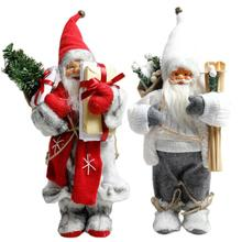 Big Size Christmas Dolls Santa Claus Toys Xmas Figurines Gift for Kid Red Tree Ornament 2020 New Year