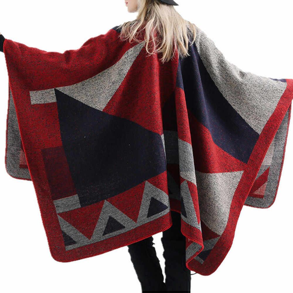 CHAMSGEND женский осенне-зимний свитер для женщин, женское одеяло, клетчатое пальто оверсайз, клетчатые халаты, пальто 19Sep07