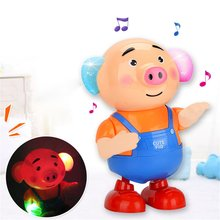 Танцующая свинка морские водоросли Танцующая качающаяся маленькая милая свинка поет электрическая вспыхивающая свинка ходячая детская игрушка