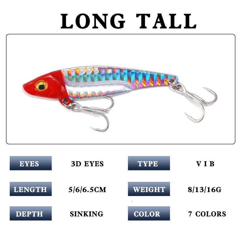 Metal Vib Fishing Lure Weights8-20g Long Shot sloty Hook jig metalowy Articulos De Pesca Isca sztuczne przynęty głębinowych połowów