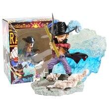 Una pieza Mihawk Marco Boa Hancock nace Portgas D as Sabo Doflamingo Bartholemew Kuma PVC figura de juguete de modelos coleccionables