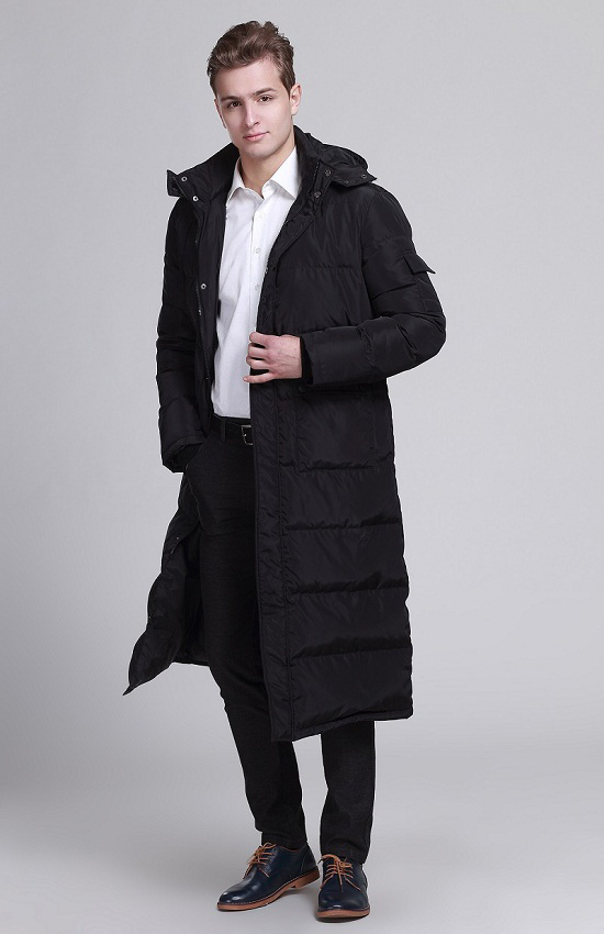 Winter Duck Down Jacket Men Korean Long Coat Puffer Jacket With Hat Men's Down Jackets Campera Hombre Invierno KJ2636