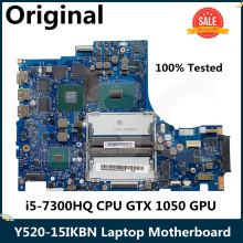 CPU Laptop Motherboard Ideapad Y520-15IKBN Lenovo NM-B191 I5-7300HQ for GTX 1050 GPU