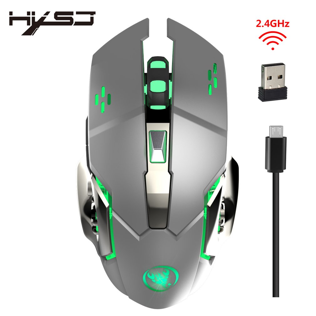M70 2.4GHz 2400DPI Wireless Rechargeable Gaming Mouse Ergonomic Optical Mouse Wireless Gaming Mouse