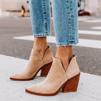 2020 Women Ankle Boots Fashion Boots  Autumn Winter Pointed Toe High Heels Zipper Female Shoes Booties Females Botas Mujer kulada boots women double zippers ankle boots women suede leather boots women high heels thick soles basic botas mujer