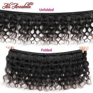 Image 2 - עלי אנאבל שיער ברזילאי גוף גל חבילות 100% שיער טבעי מארג 1/3/4 pcs צבע טבעי רמי שיער הרחבות 3 צרור עסקות