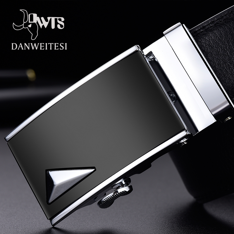 [DWTS] Belts For Men Genuine Leather Strap Men Belt Male Top Quality Automatic Buckle Black Belts Cummerbunds Cinturon Hombre