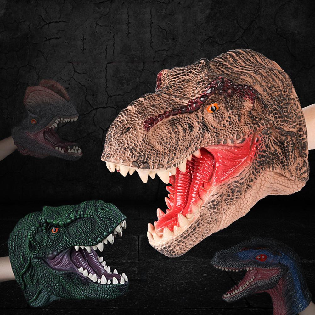 Simulation Dinosaur Xmas Bday Christmas Decor Halloween mask hand Novelty & Gag Toys Gags& Jokes kid gift party theater children