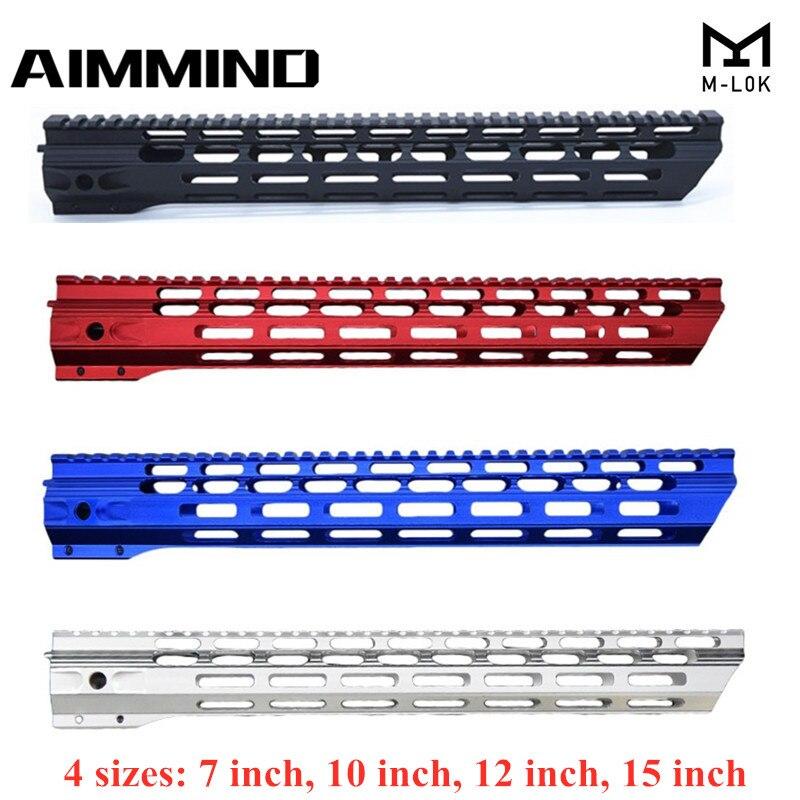 7 10 12 15 Inch AEG M4 M16 AR15 Free Float M-Lock Quad Rail Handguard Picatinny Rail with steel Barrel Nut for Hunting(China)