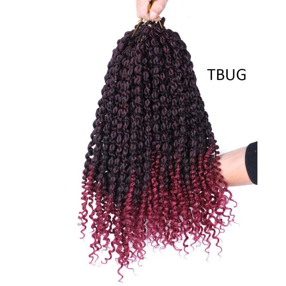 14inch Pre Twisted Passion Twist Hair Crochet Hair Synthetic Ombre Pre looped Fluffy Spring Bomb Twists Braiding Hair image