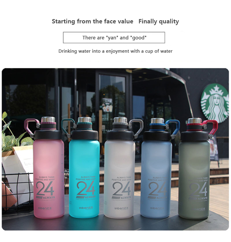Hab272dc9e13b4add8047e84bd40f903an Kettle 850ML large capacity plastic water dispenser travel student outdoor sports school portable scrub leak cup drinking bottle