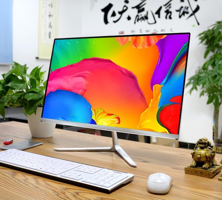 CPU I3/i5/ I7 RAM 4/8/16GB SSD 120/128/256GB 1TB GTX1050Ti Desktop Computer Pc With 21.5'' 24'' 27'' Inch HD Lcd Monitor