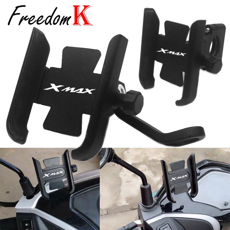 For YAMAHA XMAX300 XMAX400 <font><b>XMAX</b></font> X-MAX 125 250 <font><b>300</b></font> 400 Motorcycle Accessories handlebar Mobile <font><b>Phone</b></font> <font><b>Holder</b></font> GPS stand bracket image
