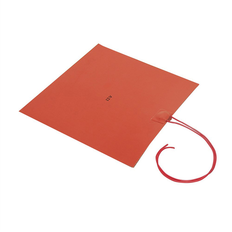 200X200mm 12V 220W Silicone Rubber Heating Heater For 3D Printer Heated Beds,Heating Pad,3D Printer Accessories(Orange)