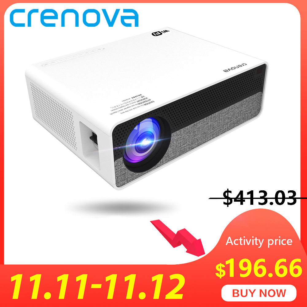 CRENOVA 2019 Newest Full HD 1080P Physical Resolution Android 8.0 OS LED Projector With 5G WIFI Support 4K Video Projector Q9-in LCD Projectors from Consumer Electronics