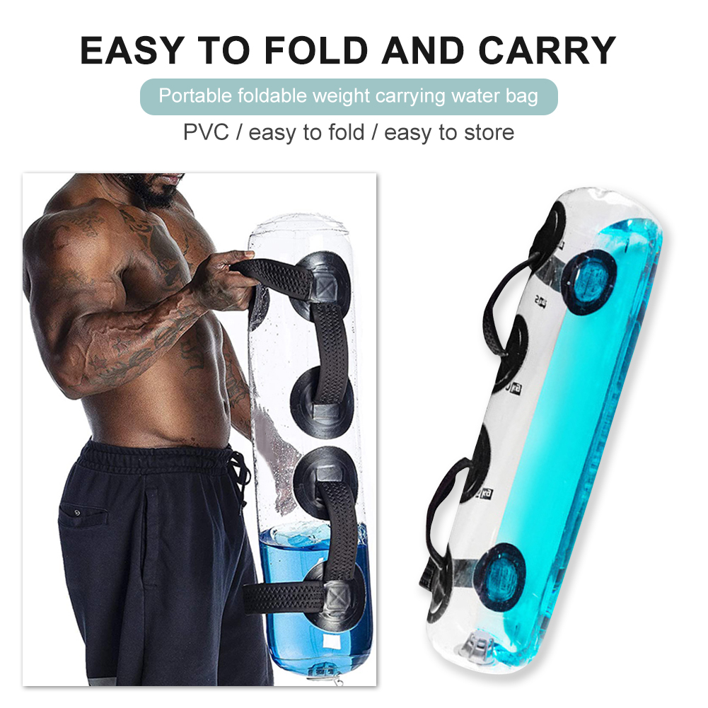 Yoga Weight Bearing Aqua Water Bag Exercise Sandbag Gym Fitness Training Workout for Effective Working out