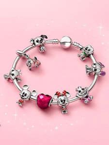 Jewelry Charms Beads Mouse Pandora Bracelet 925-Sterling-Silver DIY Original Clownfish