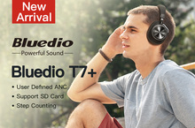 Bluetooth наушники Bluedio T7 + с активным шумоподавлением и слотом для sd карты