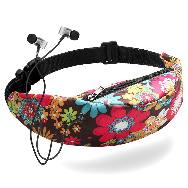 2019 New Fashion Casual Female Sports Fanny Pack Outdoor Waist Bag Sports Travel Polyester Women Bags Multicolor