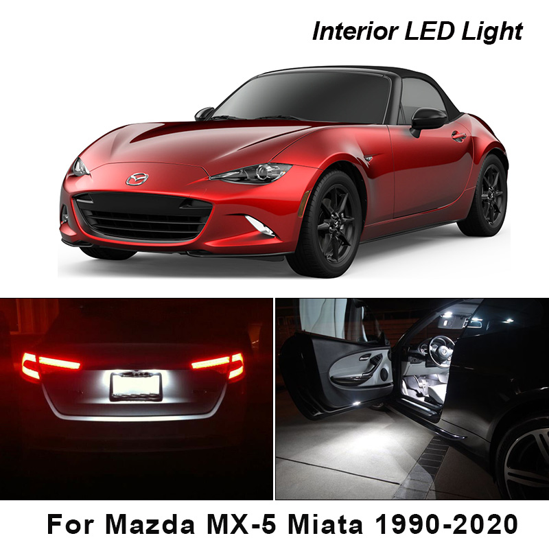 Canbus For Mazda MX-5 Miata 1990-2020 Vehicle LED Interior Dome Trunk License Plate Lights Bulbs Car Lighting