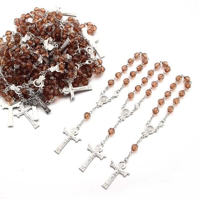 Бесплатная доставка 12 шт акриловые бусины четки браслет католические