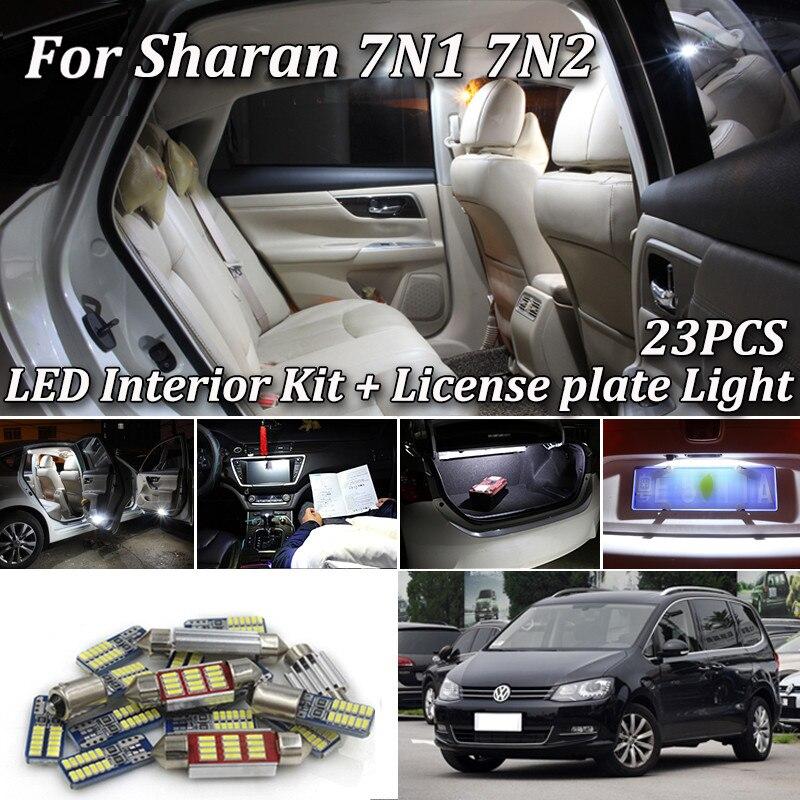 23 шт. белые светодиодные с Canbus автомобиля интерьер двери Footwell огни комплект для Volkswagen VW Sharan 7N 2011 2012 2013 2014 2015 2016 2017 2018
