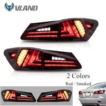 Akcesoria samochodowe VLAND tylne światła led montaż dla Lexus Sedan XE20 IS250 IS350 2006-2013 pełny kierunkowskaz led światła cofania