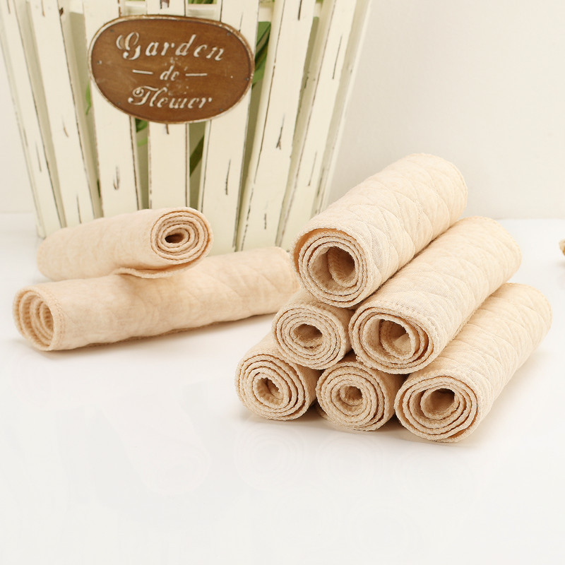 Baby Natural Color Cotton Three Gauze Diapers Newborn Urine Products Organic Colored Cotton Diapers Children's Diapers