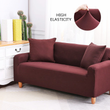 Brown Couch Cover Stretch Elastic Solid Color Corner Sofa Covers For Living Room Sectional Sofa Slipcover One Two Three Fourseat
