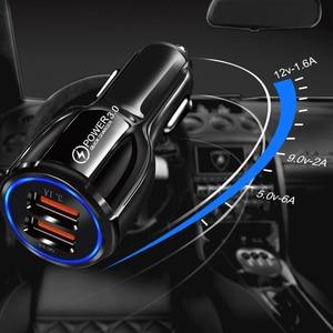 Image 4 - Chargeur de voiture Charge rapide 3.0 QC 3.0 adaptateur de Charge rapide double USB chargeur de voiture pour iphone Micro USB Type C câble chargeurs de téléphone