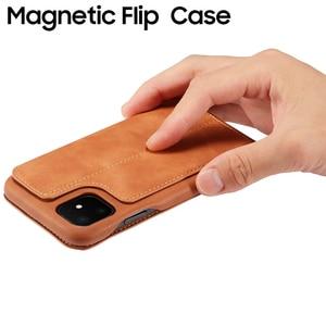 Image 3 - Capa Dành Cho Iphone SE 2020 11 2019 Dạng Flip Case Cho iPhone 12 11 Pro 12 Max 2019 XS XR X 6 7 8 Plus Từ Tính Lật Chân Đế Thẻ Ốp Lưng