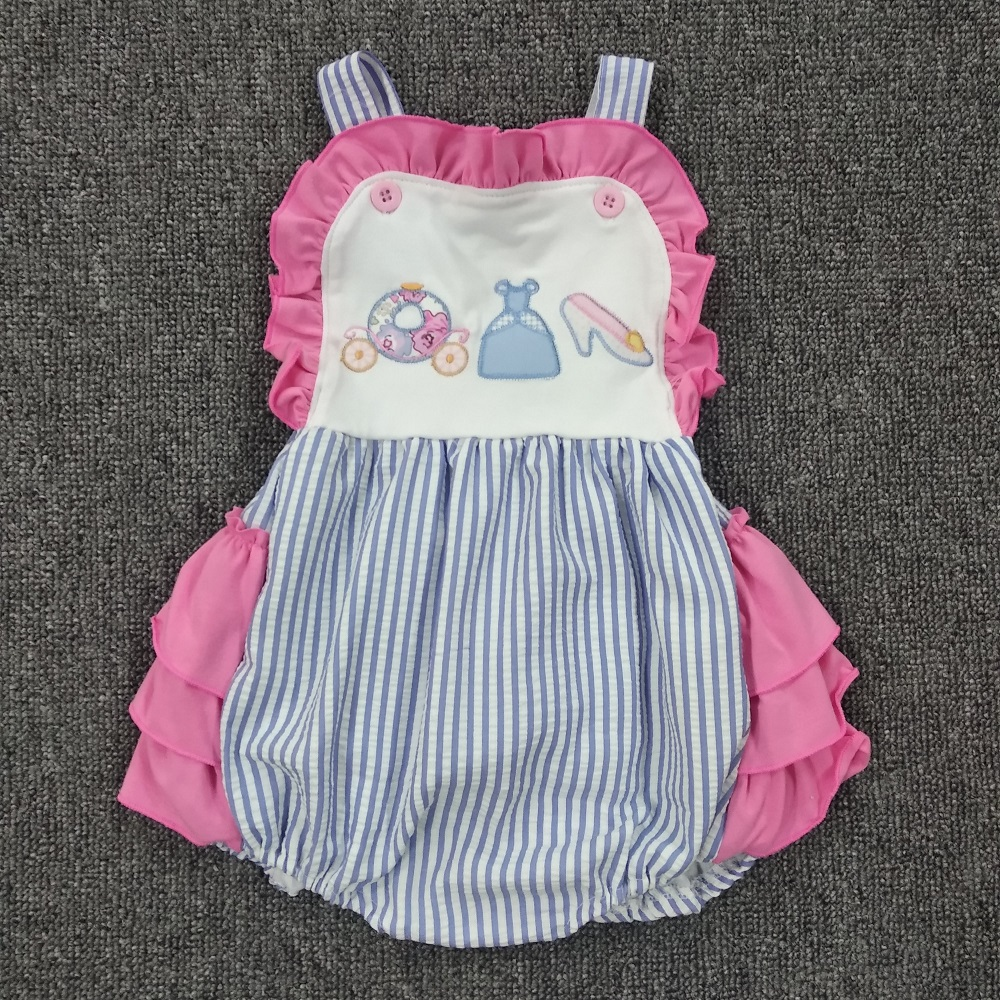Baby Girl Summer Clothes Cotton Newborn Rompers Baby Boutique Clothes Bubble