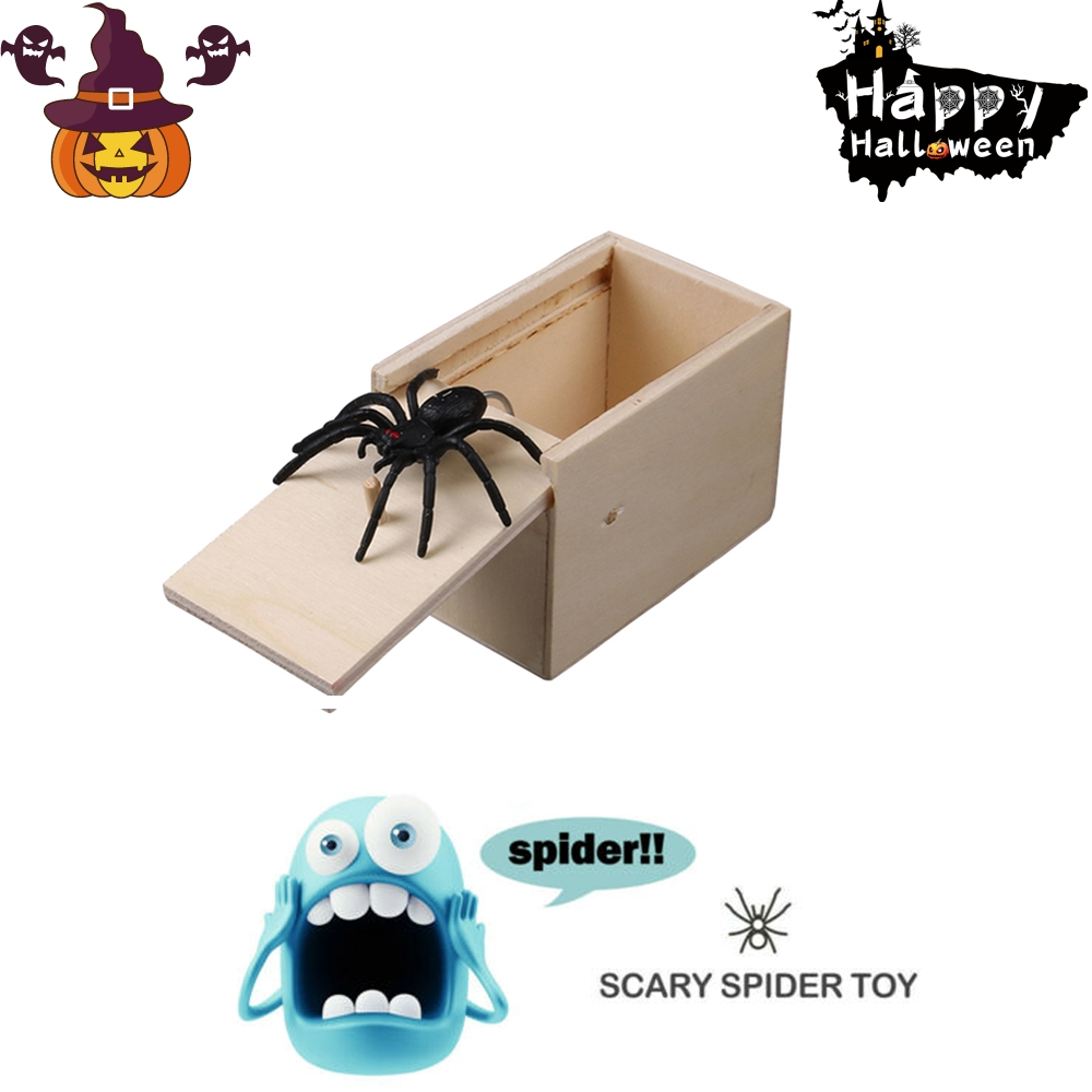 2019 Halloween Prank Toys For Children Mouse Spider Surprise Box Scare Prank Gifts Kids Toys Surprise Box Fun Scare Funny Toys