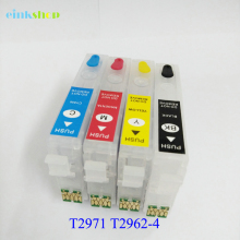 T2971 T2962 T2963 T2964 Refillable ink cartridge For Epson XP231 431 241 XP-231 XP-431 XP-241 XP441 With One time chip T296 T297 296 297 t296 t297 ciss inkjet cartridge dye ink refill kit for epson xp 231 xp 241 xp 431 xp 441 xp 231 241 xp231 xp241 printer