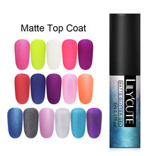 LILYCUTE 5ml Fosco UV Gel Unha Polonês Prego Pure Cor Fosco Top Coat Embeber Off Gel Da Arte Do Prego Verniz base de laca Manicure DIY(China)