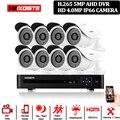 8CH 5MP DVR 4MP AHD камера безопасности CCTV система 3 6 мм 40 м ИК ночного видения 8*4 Мп SONY 322 IP66 HD камера наблюдения комплект APP View