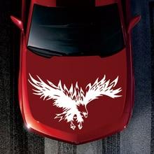 цена на Universal Tribal Eagle Pattern Car Stickers Reflective Truck Suv Hood Decals Cool Design Car Accessories