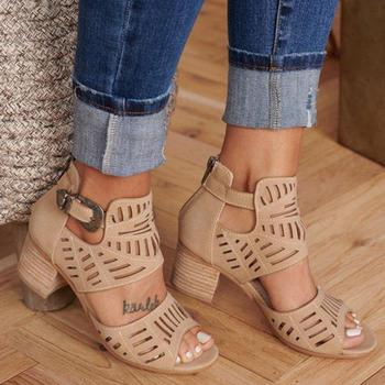 Women Sandals High Heel Gladiator Buckle 2