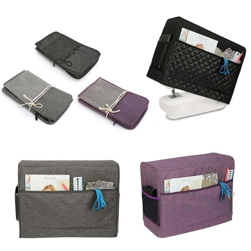Large Capacity Storage Bag Sewing Machine Travel Waterproof Sewing Machine Cover Machine Storage Organizer Dust Cover Pocket