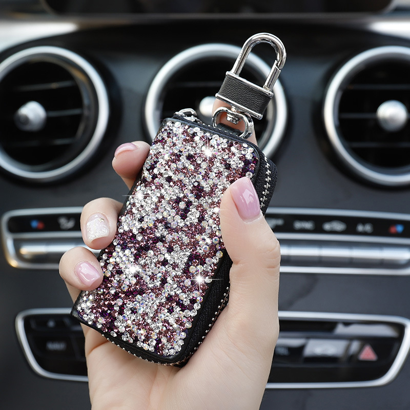 1 Pcs Men & Women Car Key Bag Wallet Crystal Key Case Fashion Housekeeper Holders Luxury for BMW LADA Accessories-in Key Case for Car from Automobiles & Motorcycles