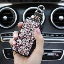 Cartera para llaves de coche para hombre y mujer, funda de cristal para llaves, accesorios de lujo para BMW LADA, 1 ud.