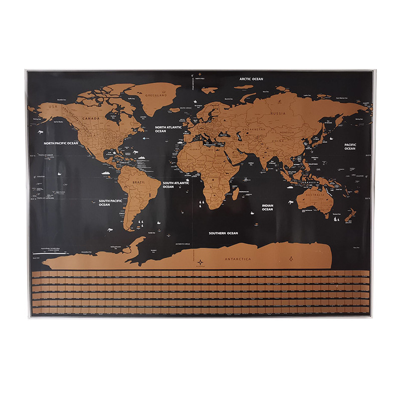 82*59cm Map Home Decoration Wall stickers Toy Stickers World Map National Flags Waterproof Paper Wall Sticker Map Erasable map