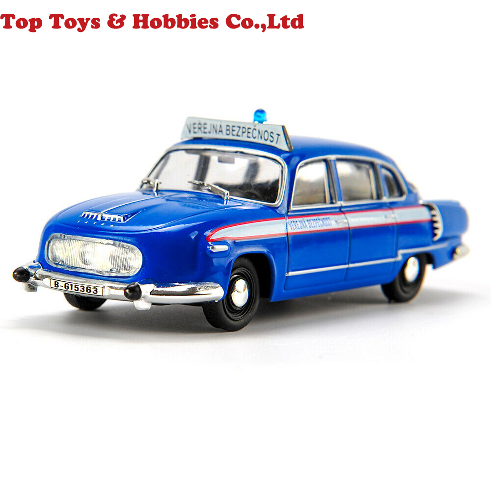 Kids Toys 1/43 Diecast Police Car Model Tatra 603 Czech Towed Collection Gift Toys