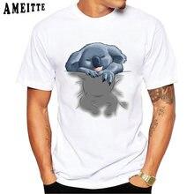 Camisa de manga curta dos homens dos homens da moda da cópia do sono do coala engraçado legal