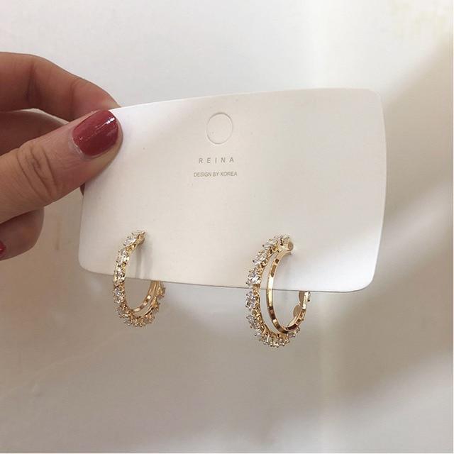 2021 New Hot Selling Zircon Earrings Crystal Earrings 1