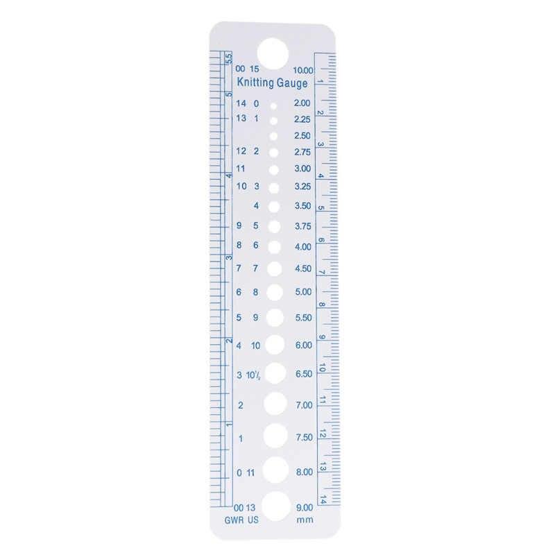 1PC ถักวัดไม้บรรทัดวัดเครื่องมือพลาสติกสีฟ้านุ่มแข็งแรงทนทาน