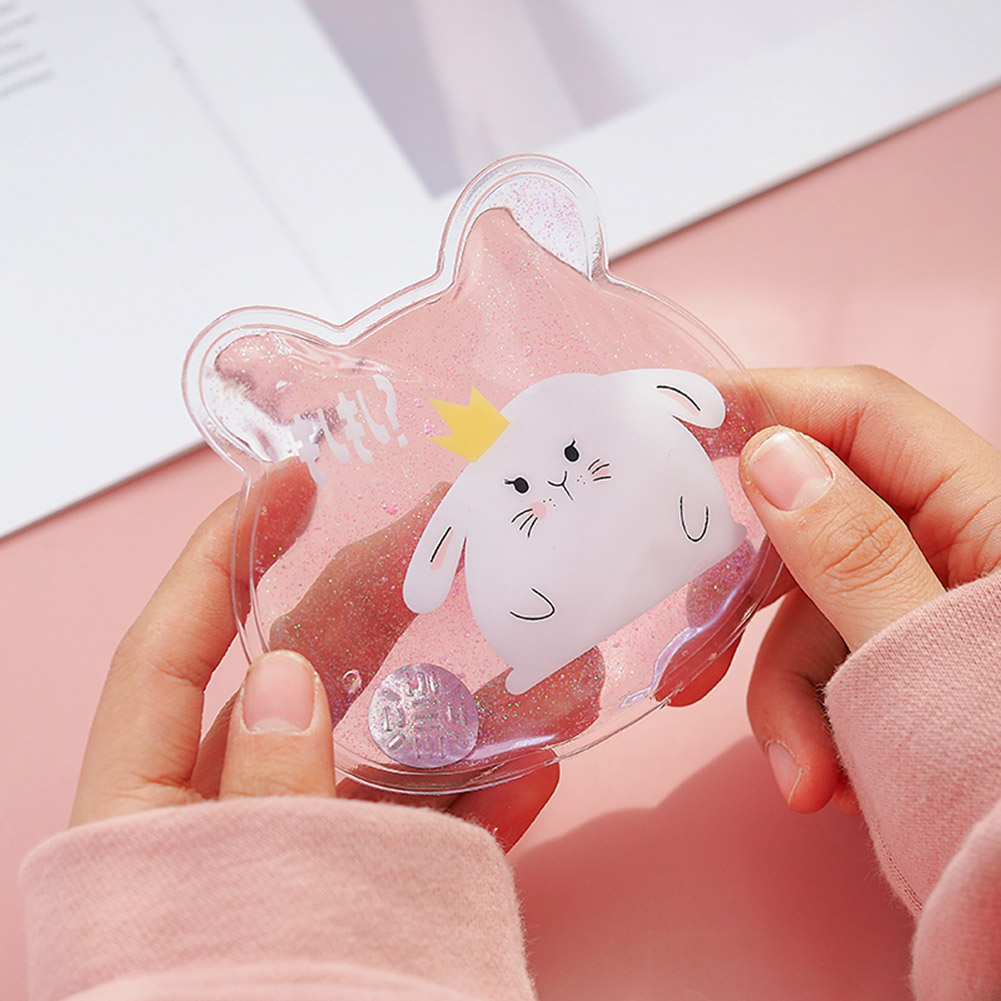 Portable Hot Water Bottle Mini Winter Reusable Gel Hand Warmer Instant Heating Bag Warmer  H99F