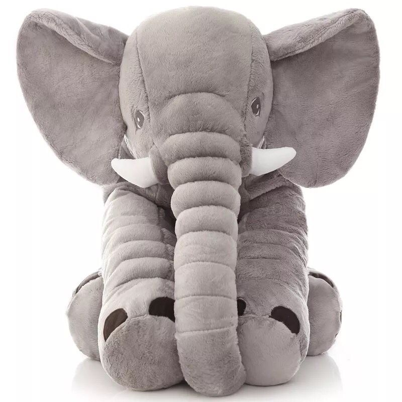 Hot Lovely 1pcs 40cm/60cm Appease Elephant Pillow Soft Sleeping Stuffed Animals Plush Toys Baby Playmate Gifts For Children