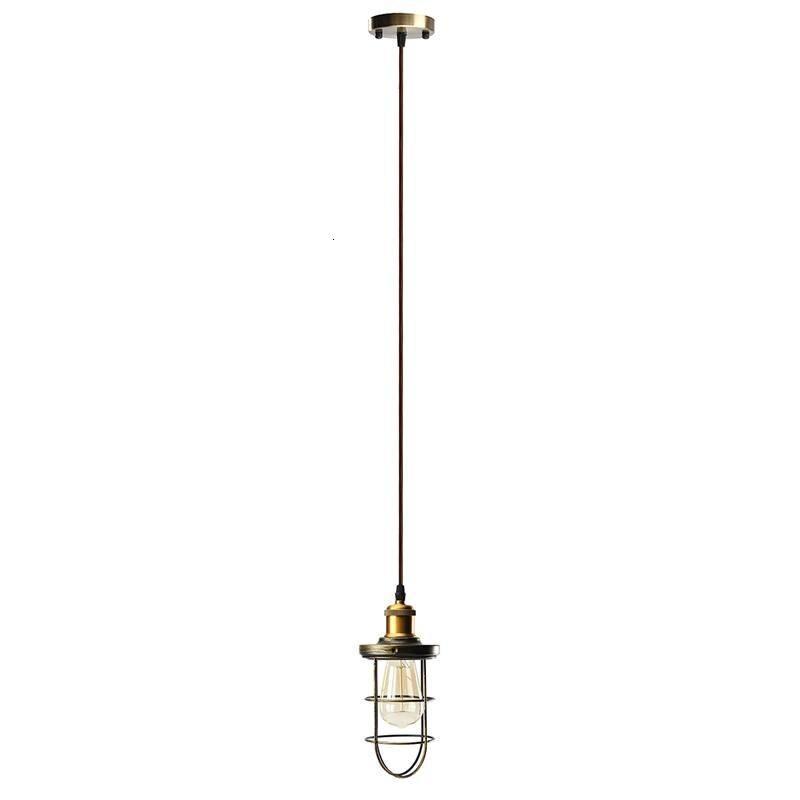 Винтажная Люстра для прихожей, железный подвесной светильник, светодиодный светильник для жилых помещений, кухонная люстра