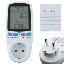 Strom Buchse Analyzer LCD Energy Meter Watt Volt Spannung Strom-Monitor Analyzer Leistung Strom Monitor Watt Checker(China)
